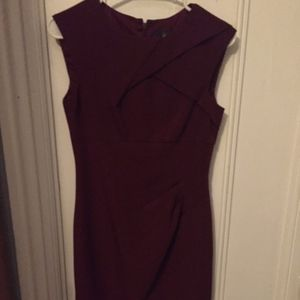 fitted dress with neck and waist detail